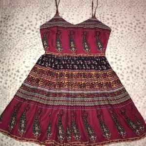 Forever 21 Red/Multi-Colored Dress